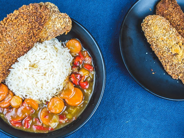 Vegan Japanese curry with Seitan